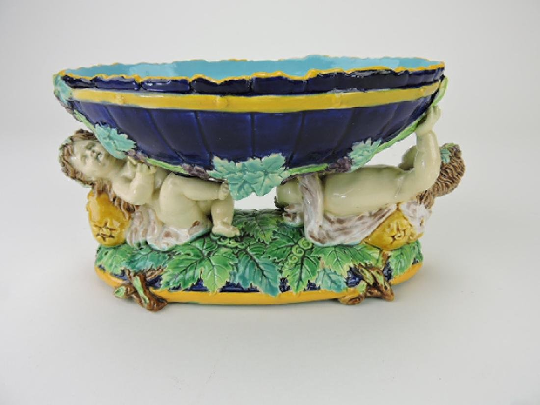 George Jones majolica sweet meat dish with