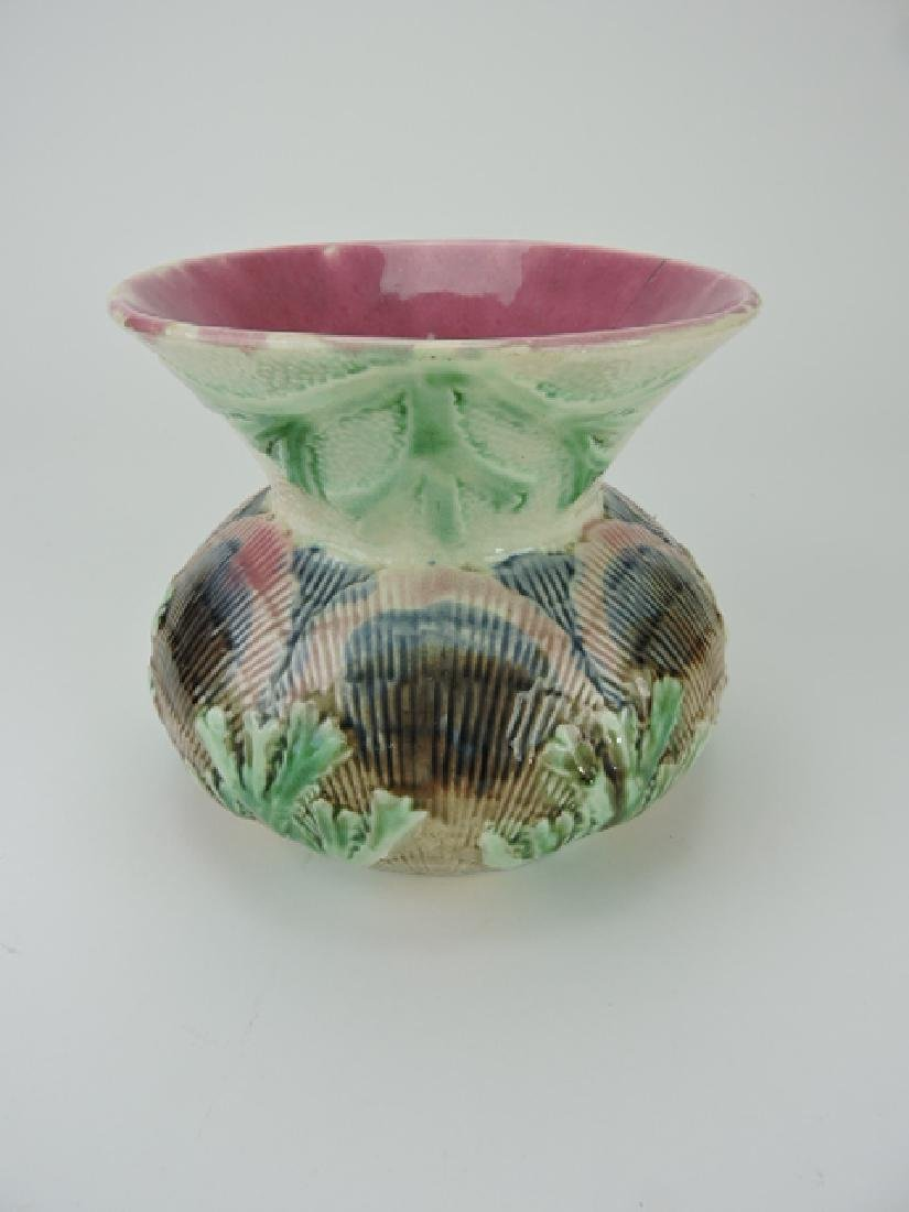 Etruscan majolica shell and seaweed spittoon,