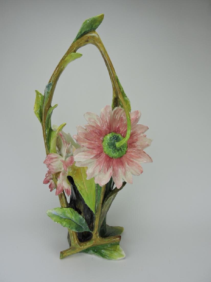 """Massier monumental flower form basket, 28""""h,"""