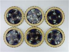 Wedgwood majolica set of 68 34 plates with