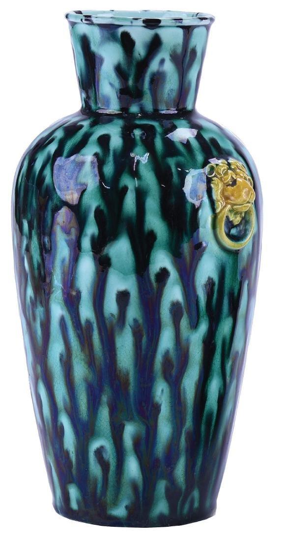 Rare Wedgwood Majolica Chinese Style Vase