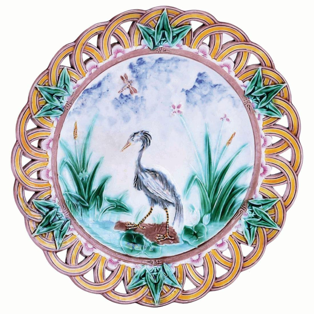 Wedgwood Majolica Dessert Plate Designed by
