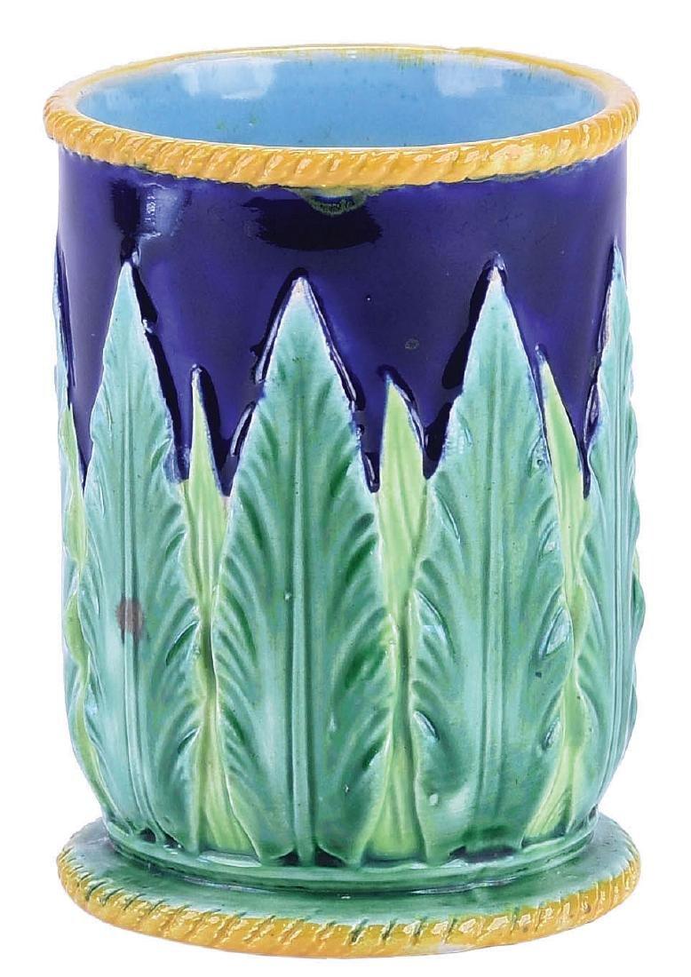 "Very Rare George Jones Majolica ""Acanthus""™ Vase"