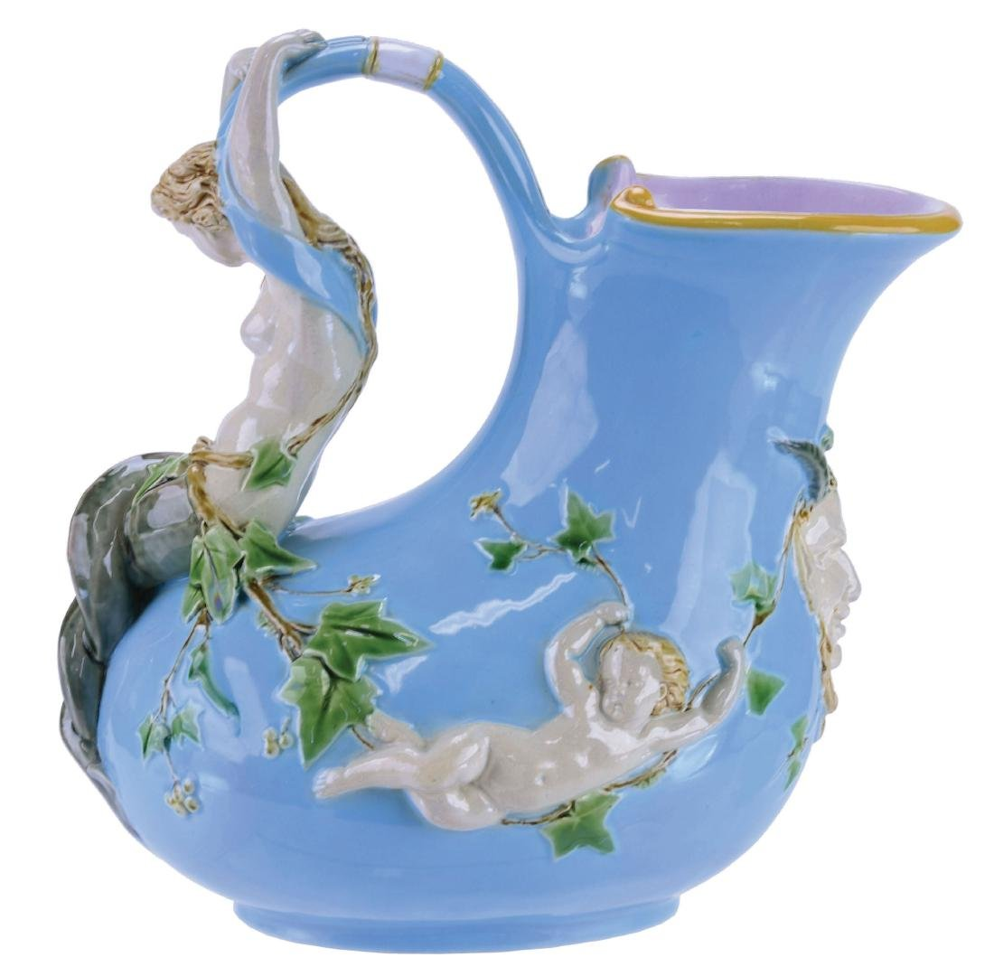 "Minton Majolica ""Askos""™ Mermaid Wine Pitcher"