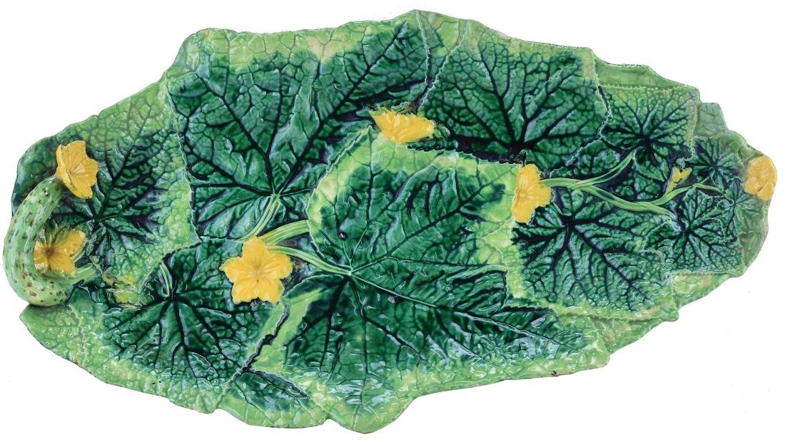 George Jones Majolica Cucumber Sandwich Tray