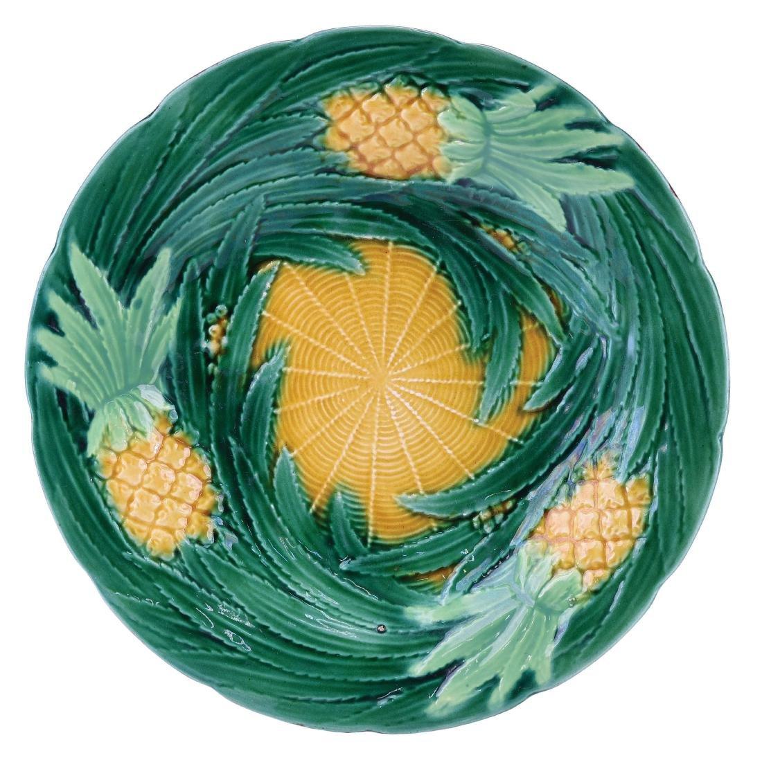George Jones Majolica Pineapple Dessert Plate