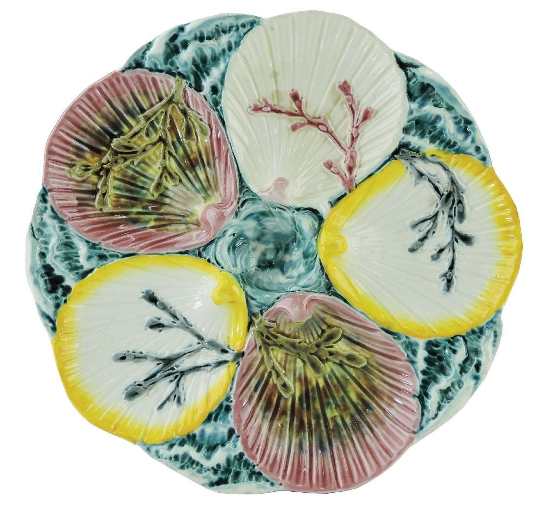 Wedgwood Majolica Argenta Ocean Oyster Plate