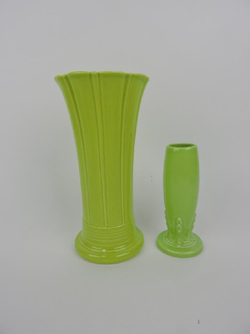 Fiesta Post 86 chartreuse vase group:
