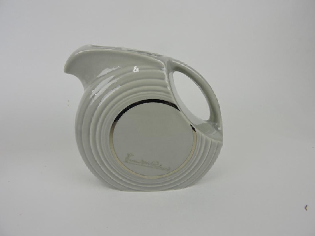 Fiesta Post 86 gray disk juice pitcher,
