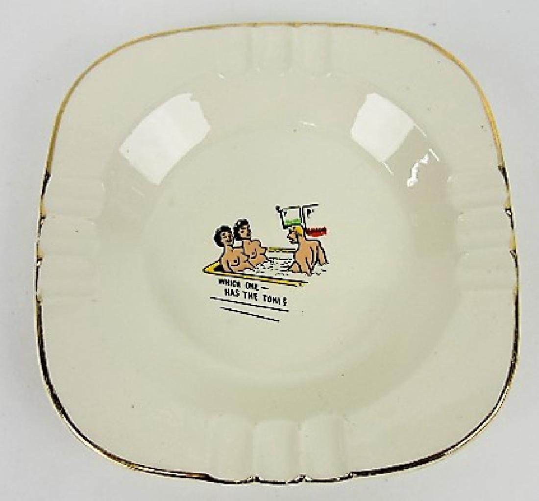 "HLC porcelain ashtray with decal ""Which One"