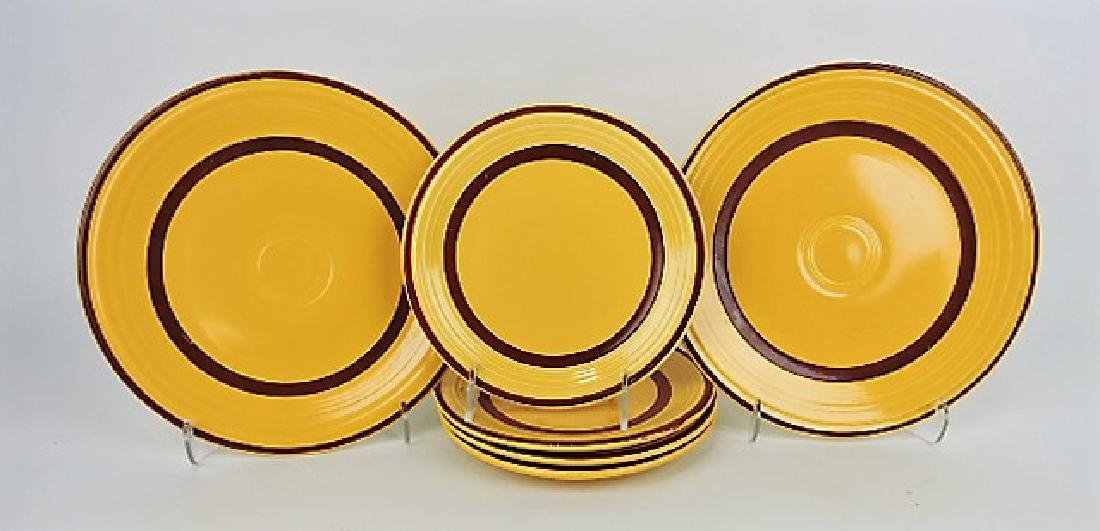 "Fiesta lot of 2 - 9"" and 4 - 7"" yellow plates"