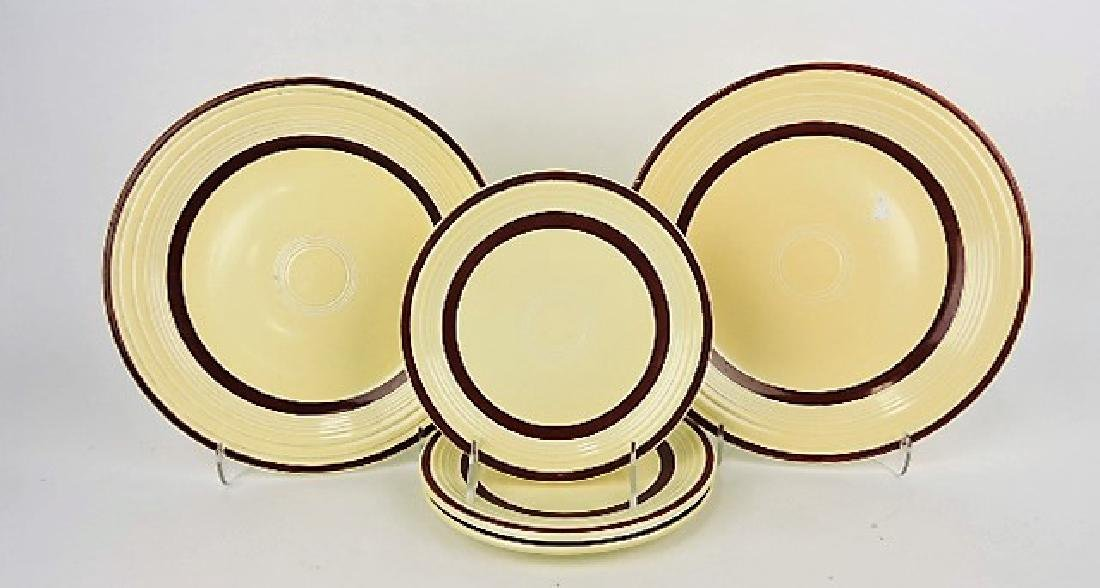 "Fiesta lot of 2 - 10"" and 3 - 7"" ivory plates"