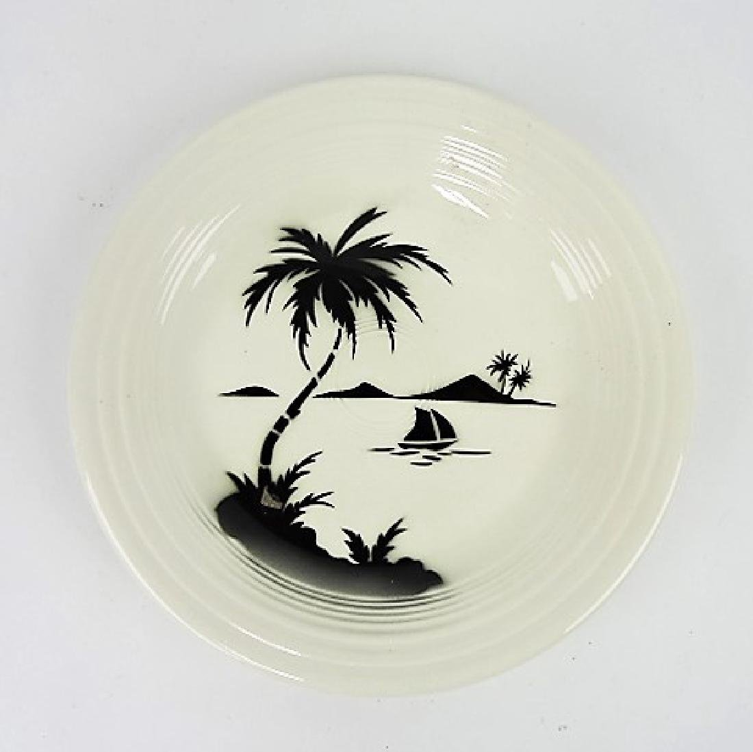 "Fiesta vintage white 10"" plate with Hawaiian"