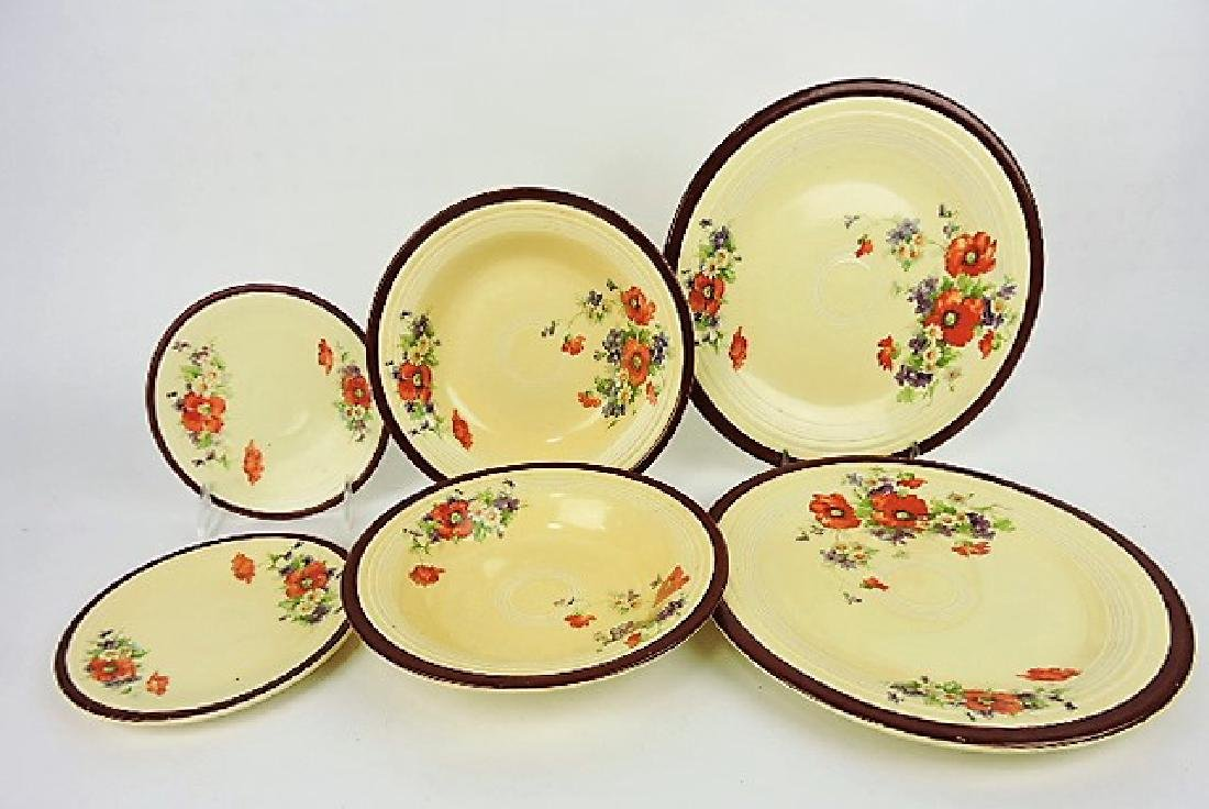 """Fiesta ivory set: 2 - 10"""" and 2 - 6"""" plates,"""