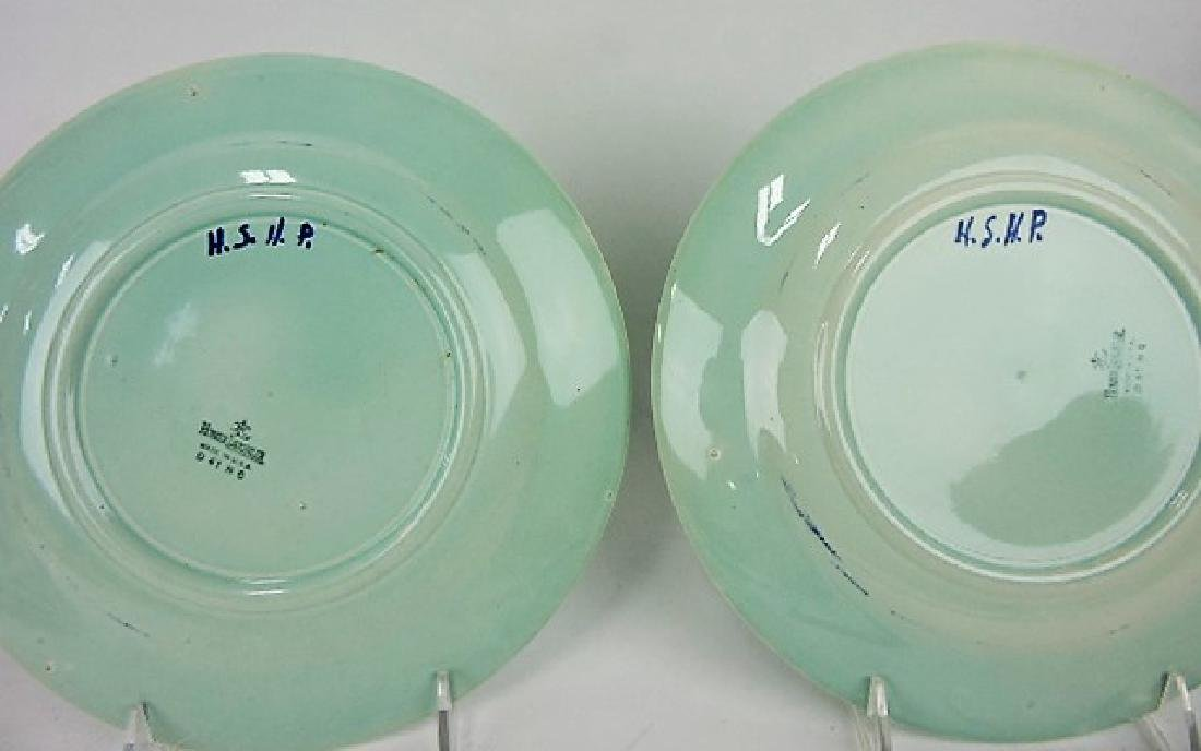 RARE HLC Newell Art Classes pair of plates of - 2