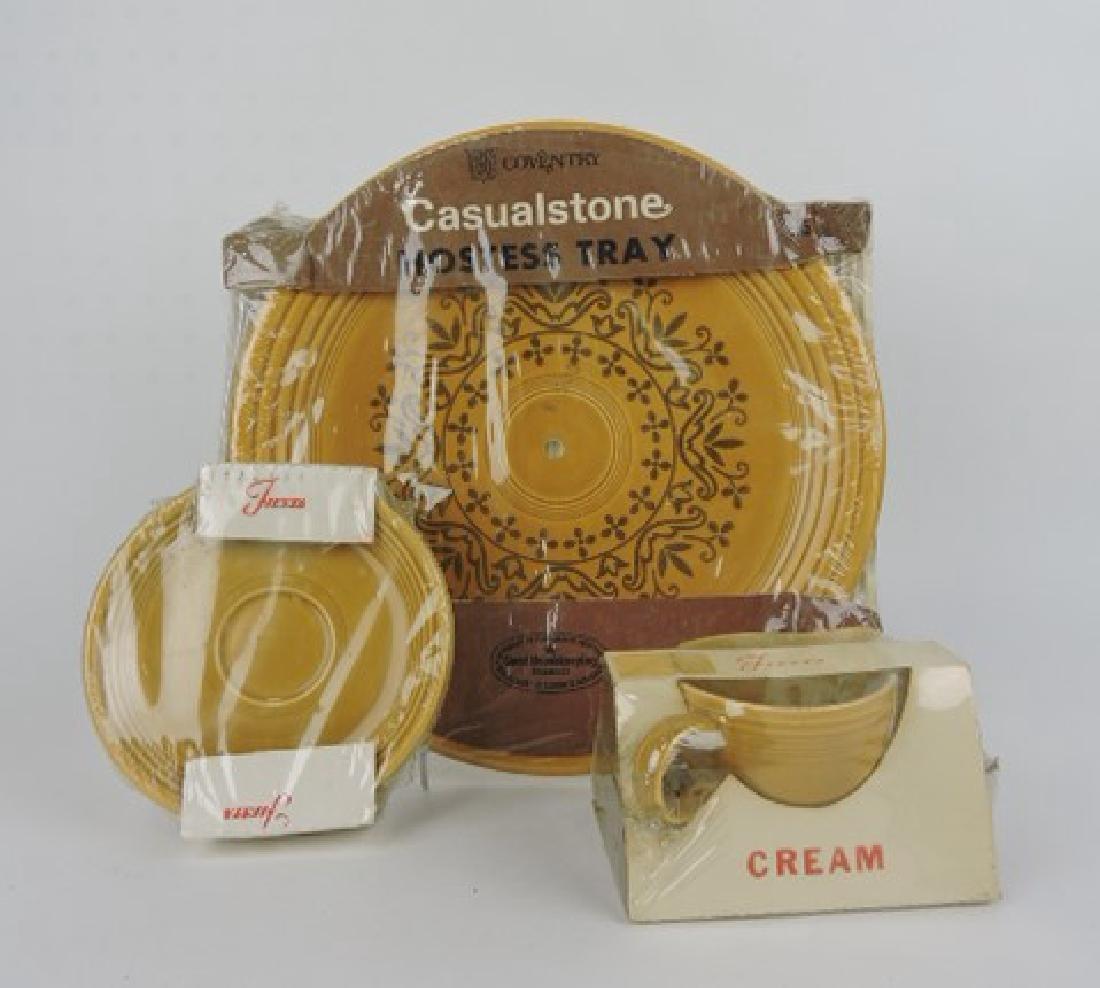 Fiesta Casualstone gold hostess tray,