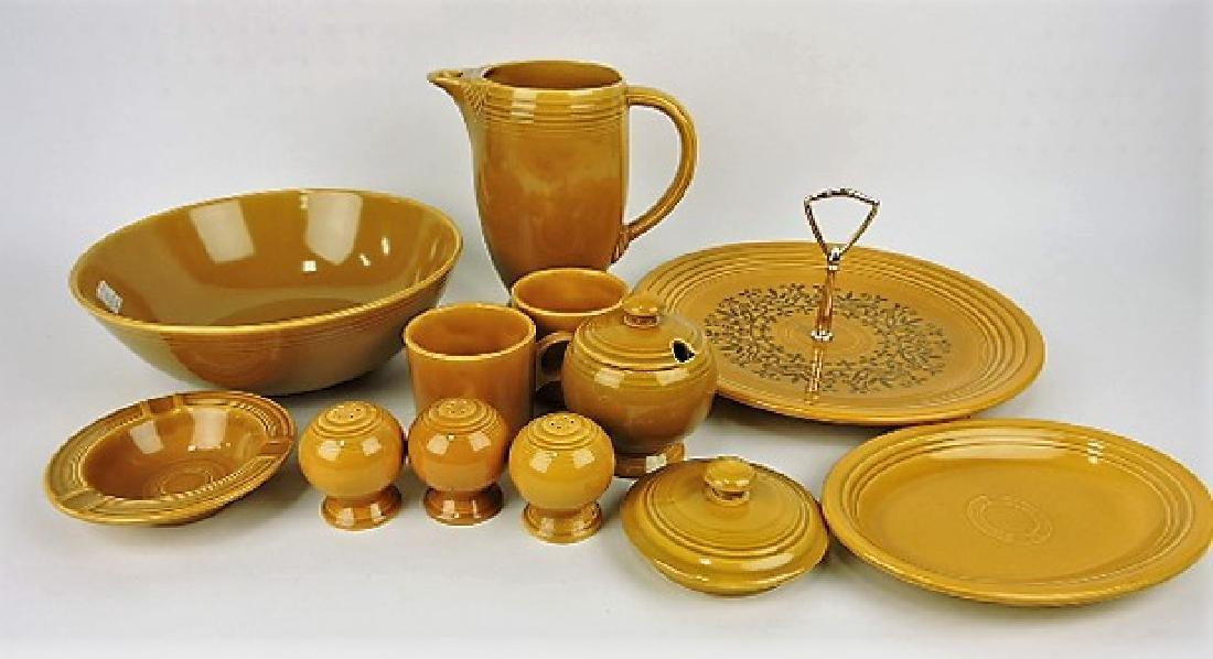 Fiesta Ironstone gold group: 10 assorted