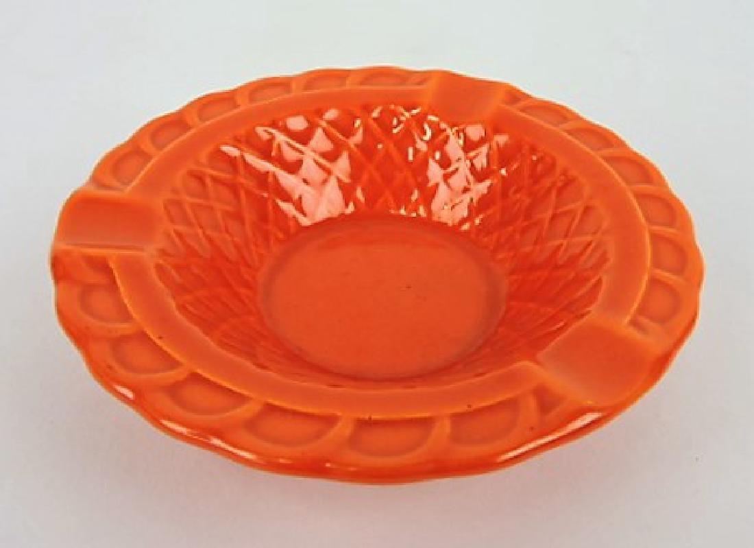 Fiesta Harlequin basketweave ashtray,