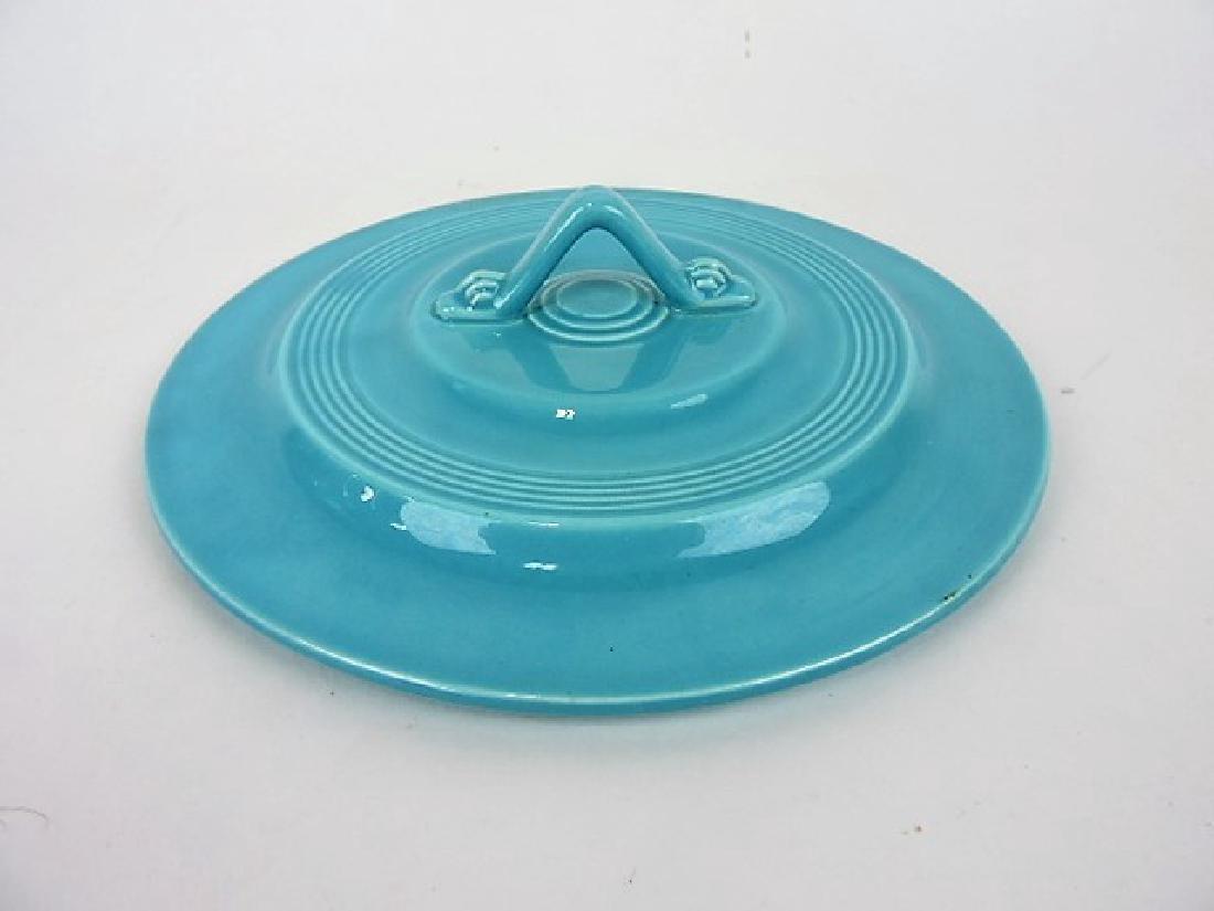 Fiesta Harlequin turquoise casserole lid