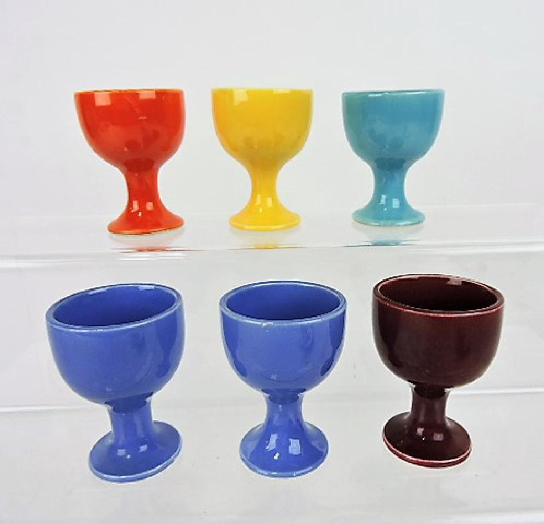 Fiesta Harlequin single egg cup group of 6: