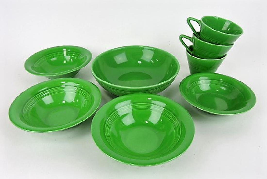 Fiesta Harlequin medium green lot of 8