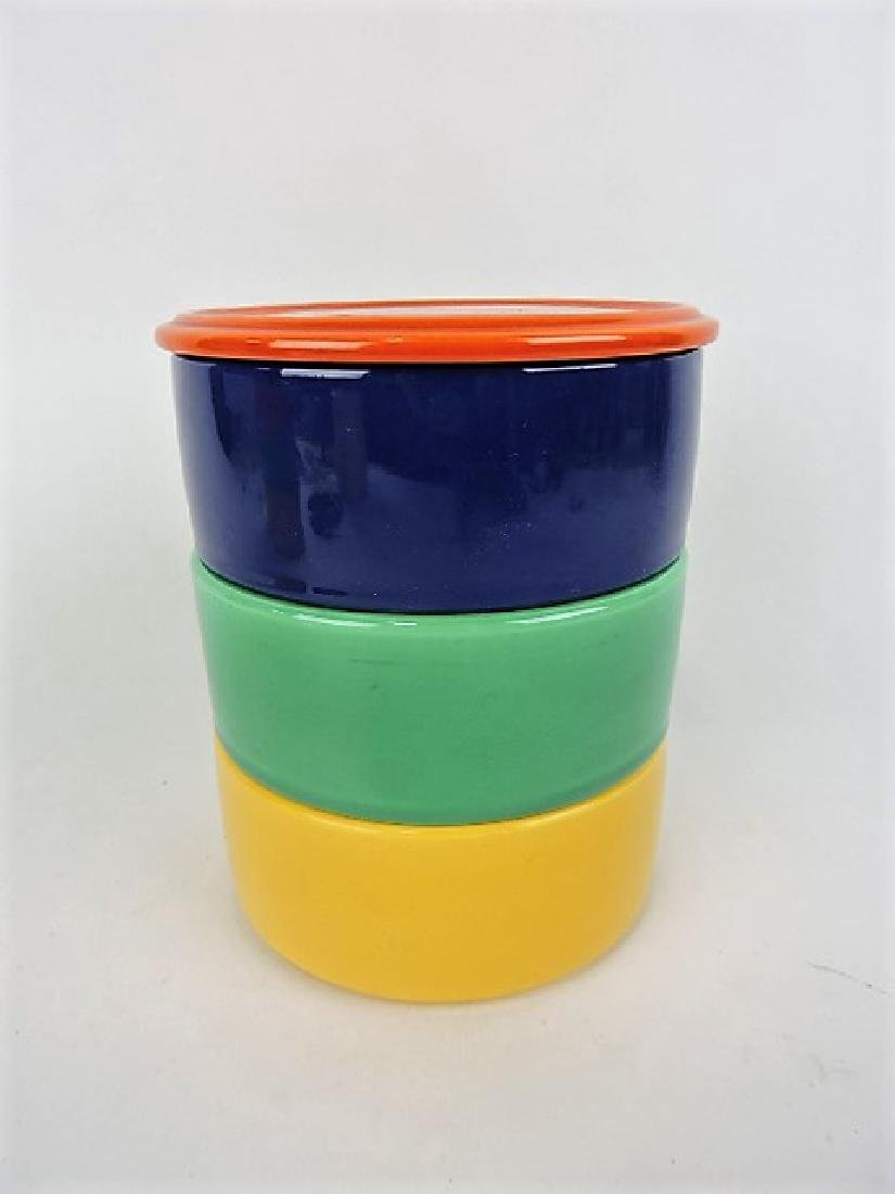 Fiesta Kitchen Kraft stack set, red lid,