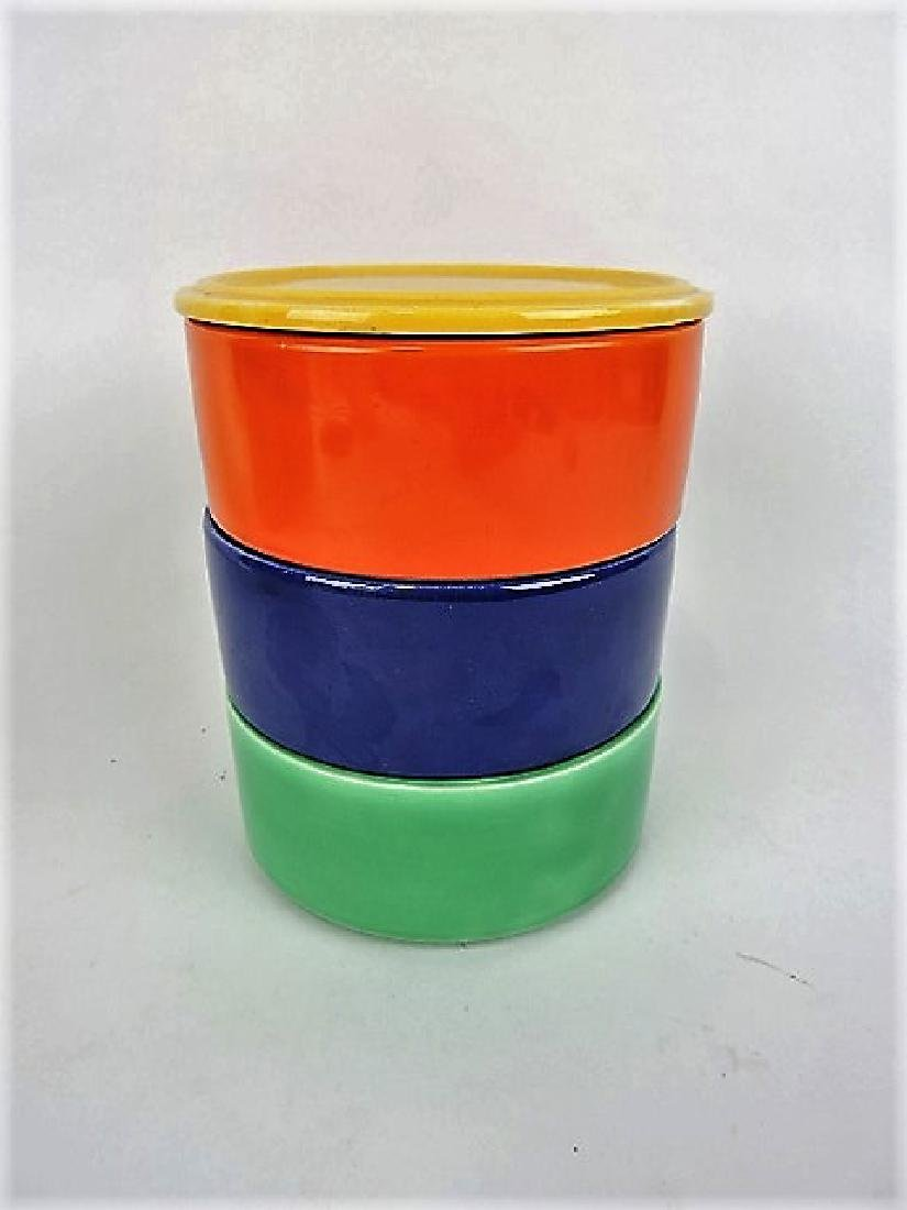 Fiesta Kitchen Kraft stack set, yellow lid,