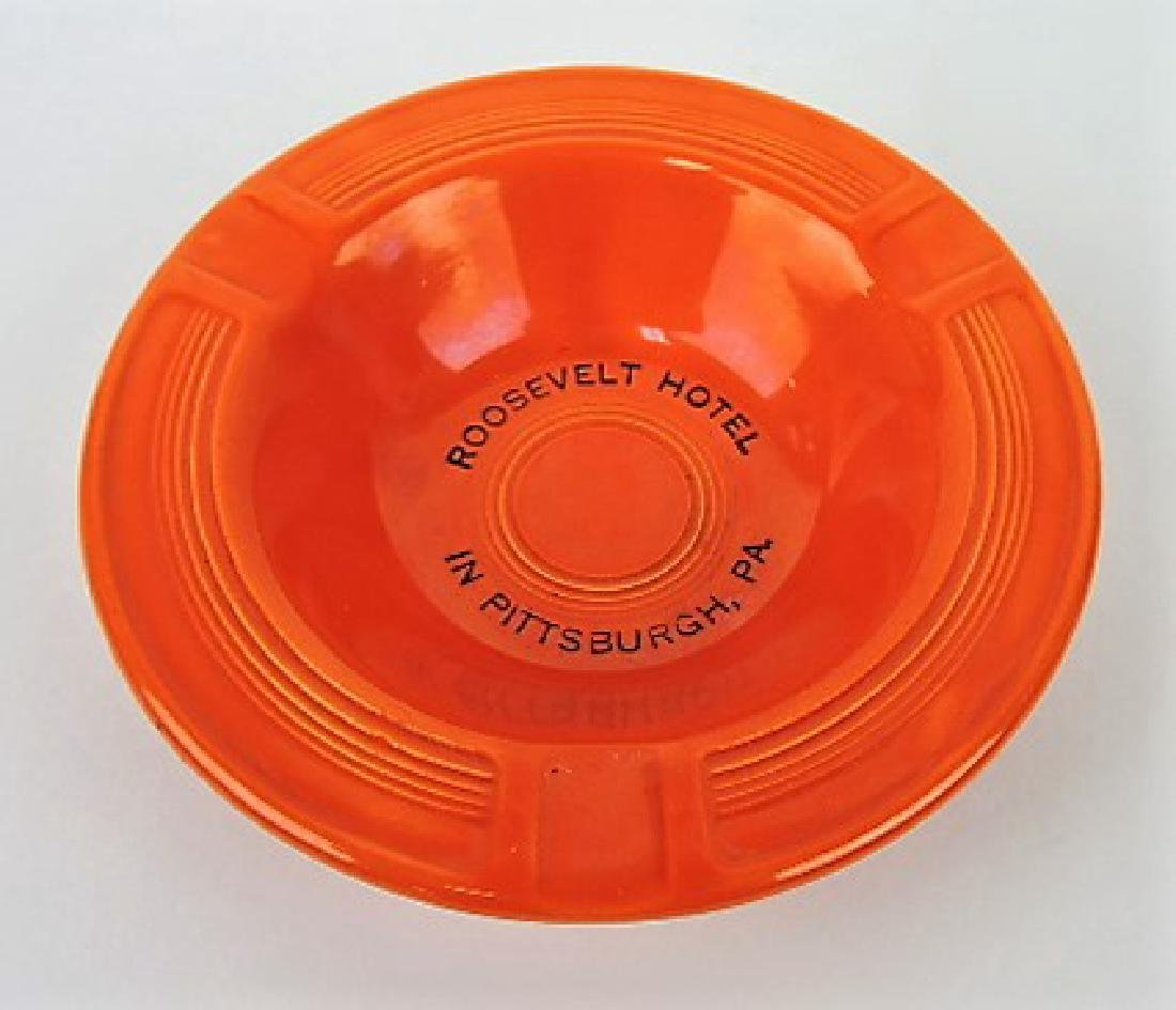 "Fiesta ashtray, red -  ""Roosevelt Hotel,"