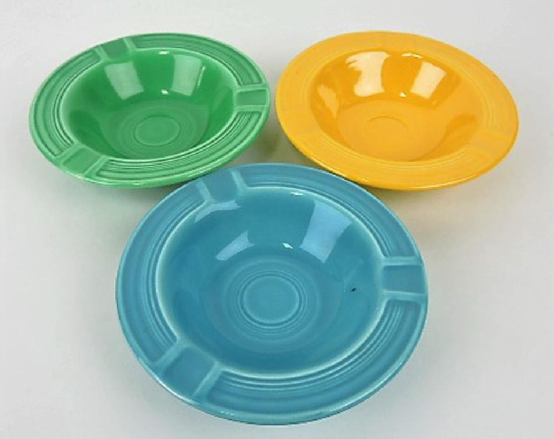 Fiesta ashtray group: turquoise, green,