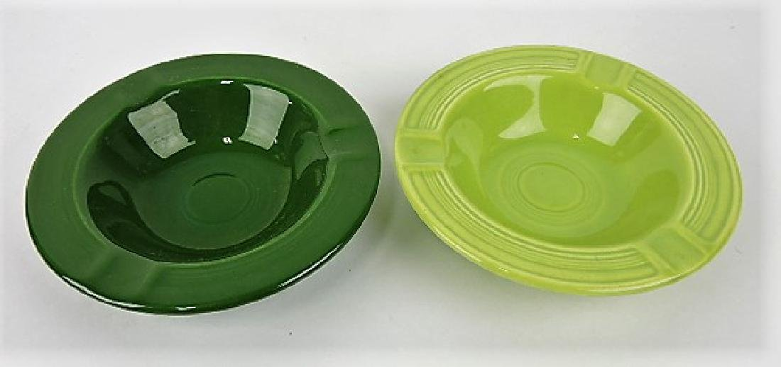 Fiesta ashtray group: chartreuse, dark green