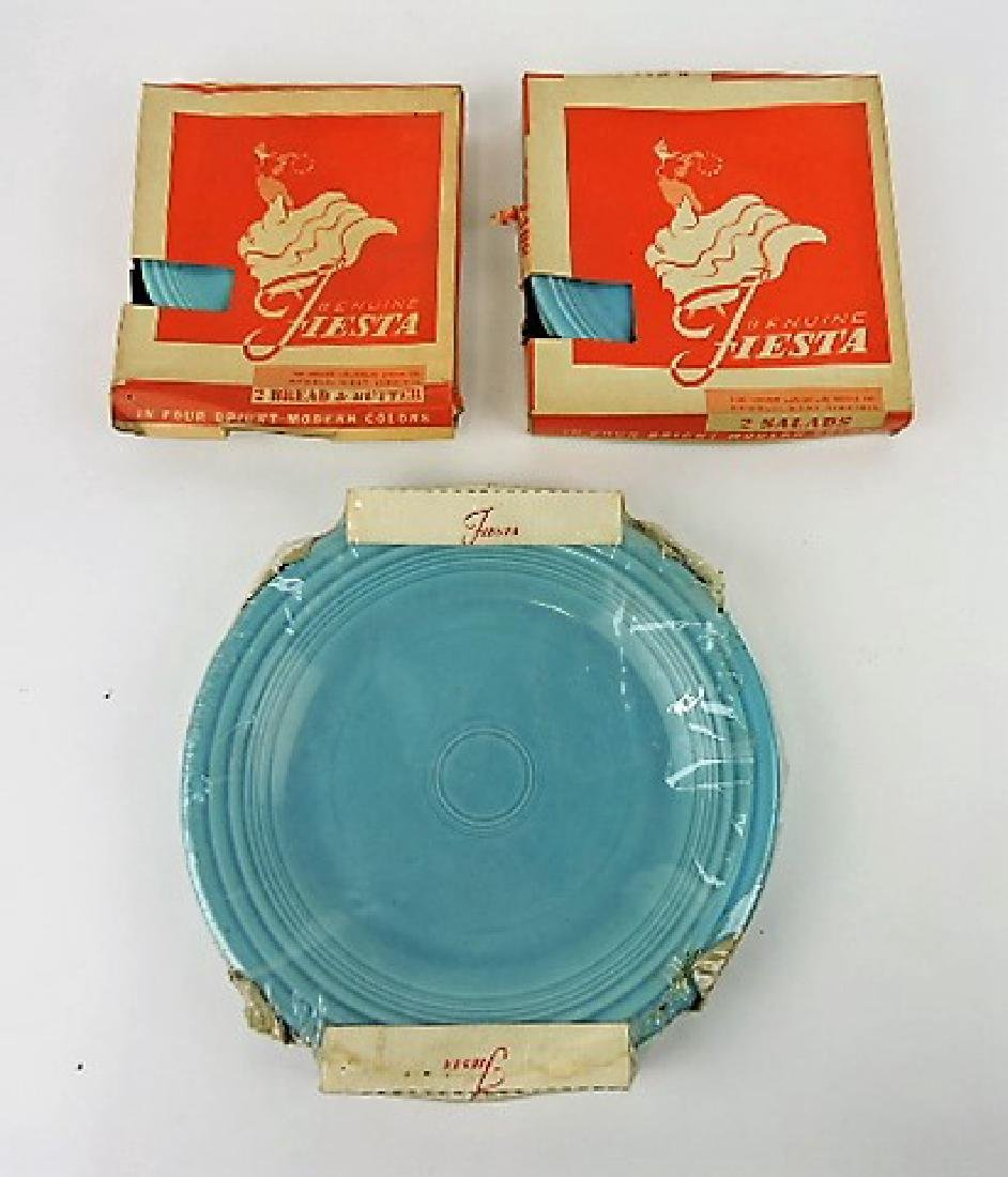 """Fiesta plate group - 6"""" red and turquoise,"""