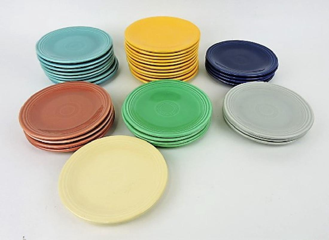 "Fiesta 6"" plate group, 36 total: 8"