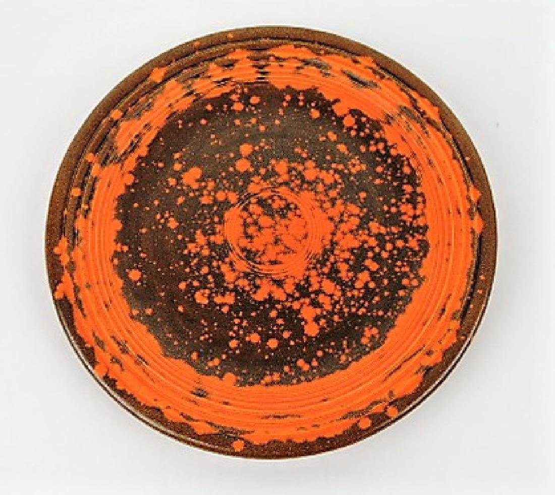 "Fiesta 7"" plate, rare burnt orange glaze"