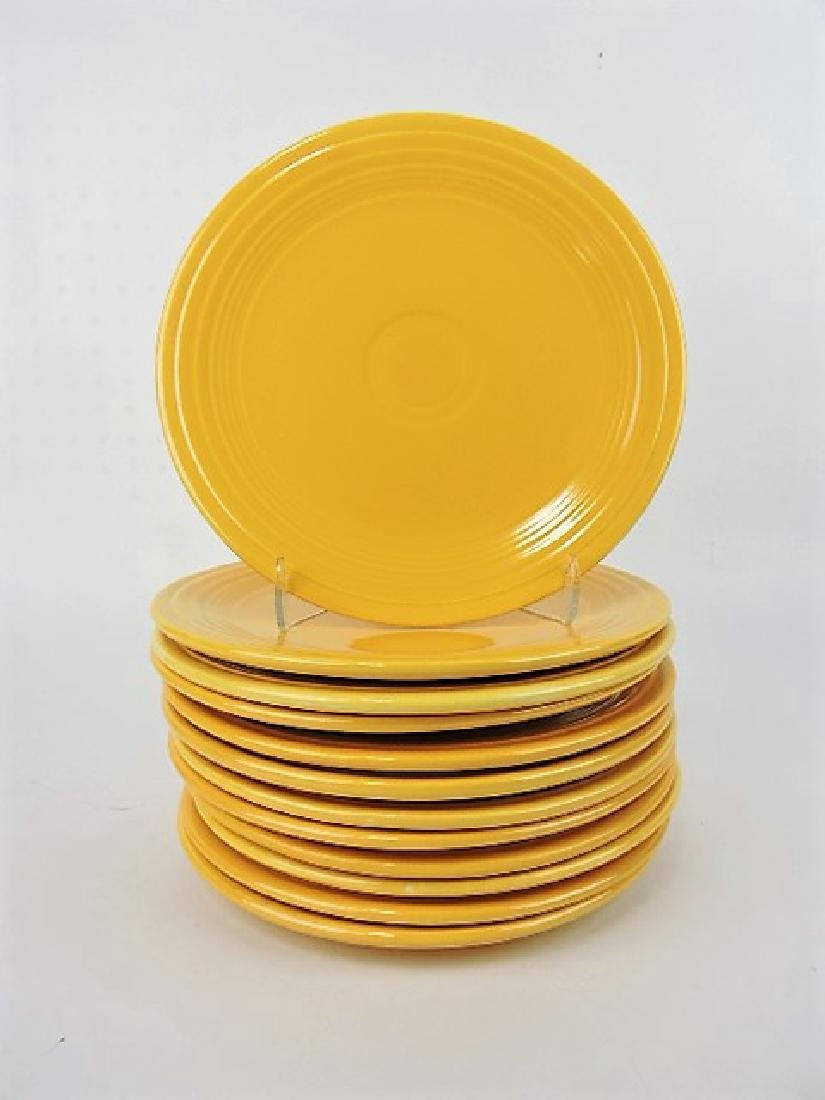 "Fiesta 9"" plate group, 12 yellow"