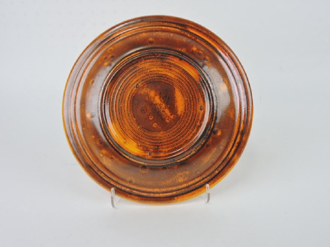 """RARE Fiesta 10"""" plate, burnt orange glaze, - 2"""