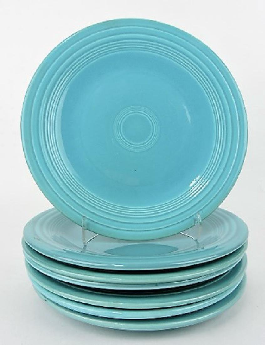 """Fiesta 10"""" plate group, 7 turquoise"""