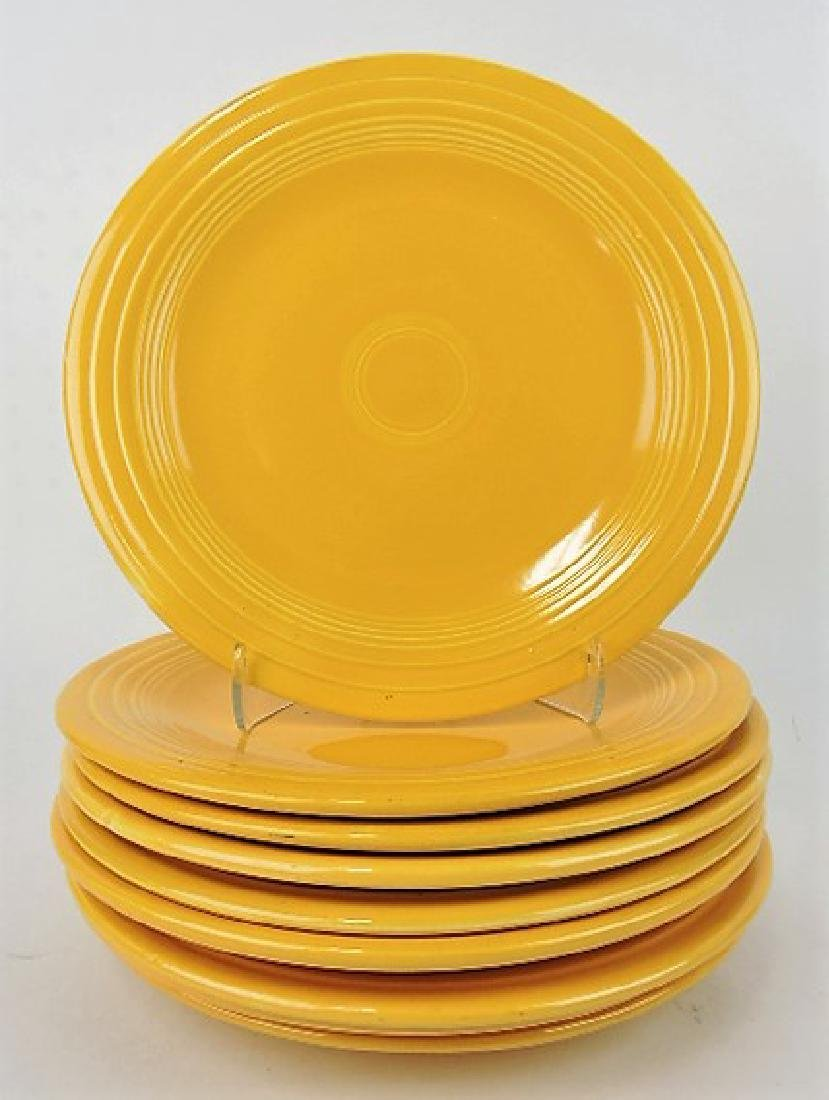 "Fiesta 10"" plate group, 9 yellow"