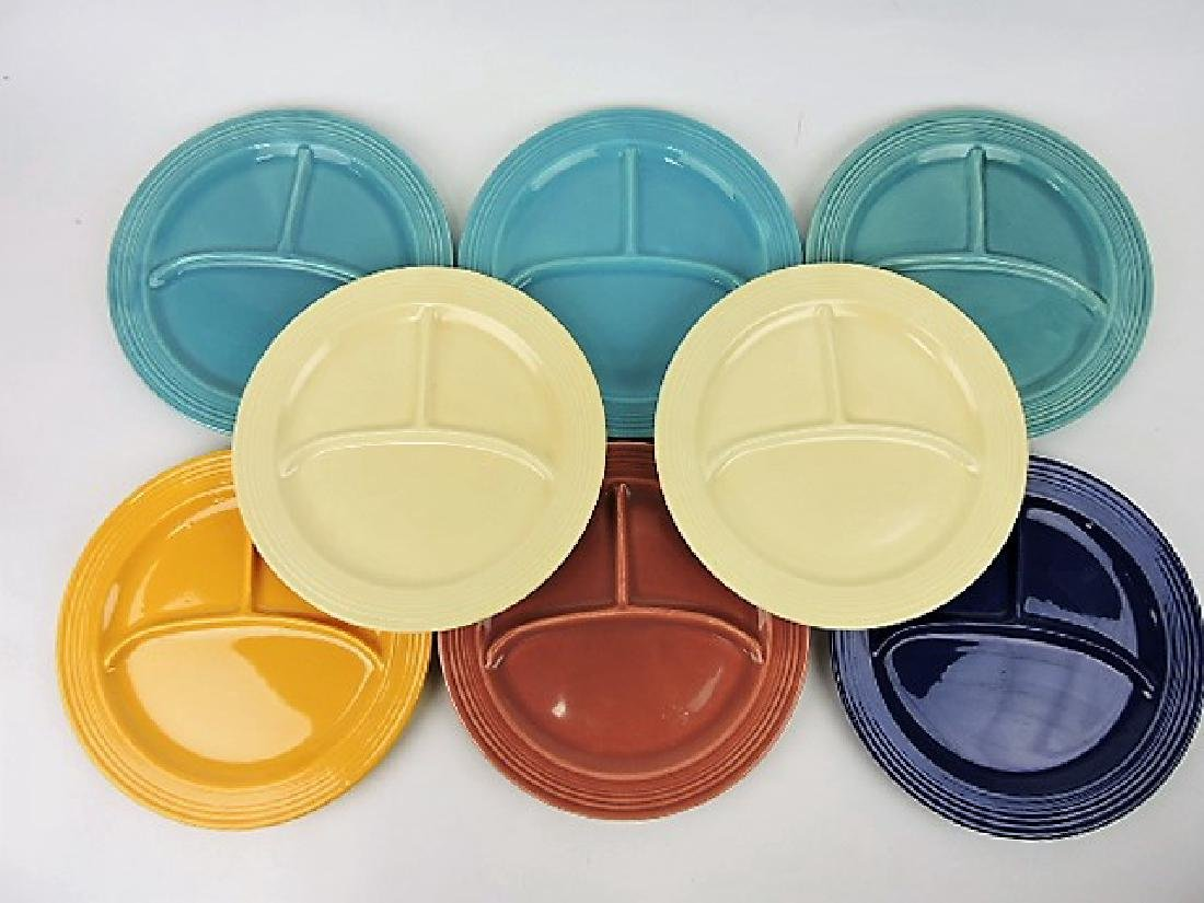 "Fiesta 10 1/2"" compartment plate group:"