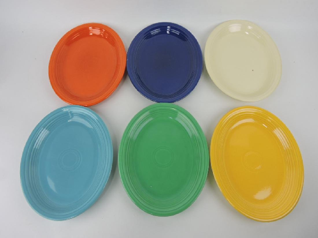 Fiesta platter group, all 6 original colors