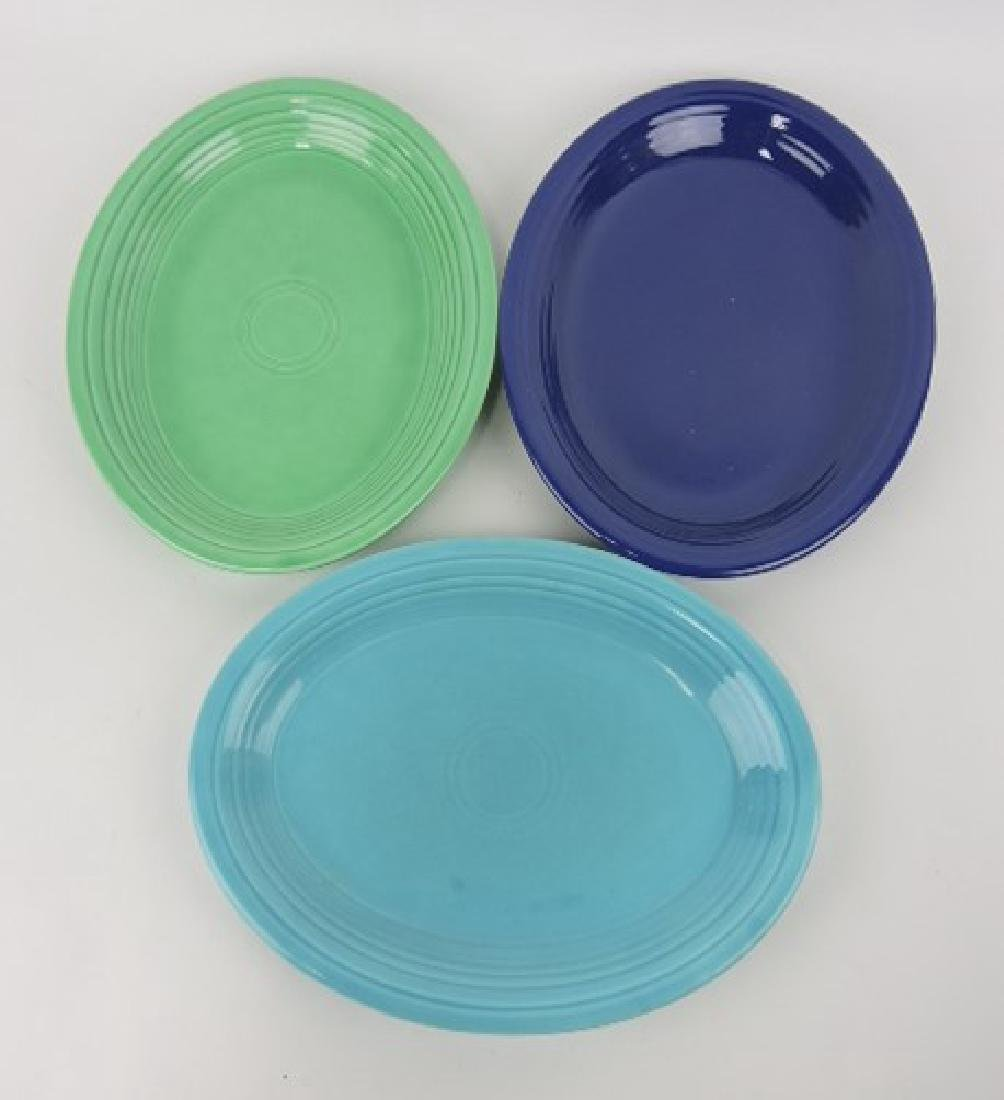 Fiesta platter group, cobalt, turquoise,
