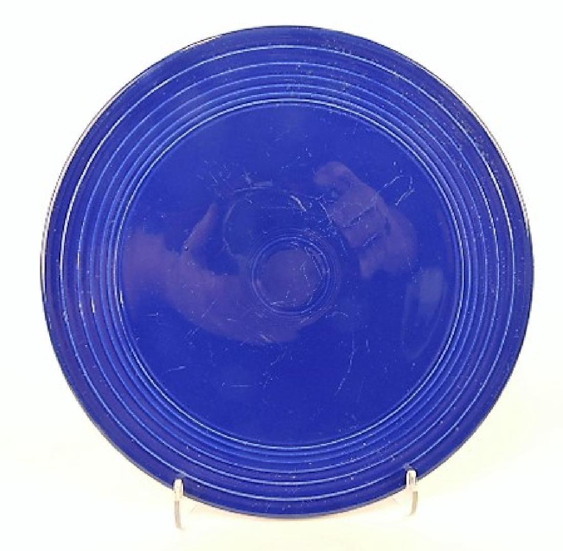 Fiesta cake plate, cobalt, minor surface