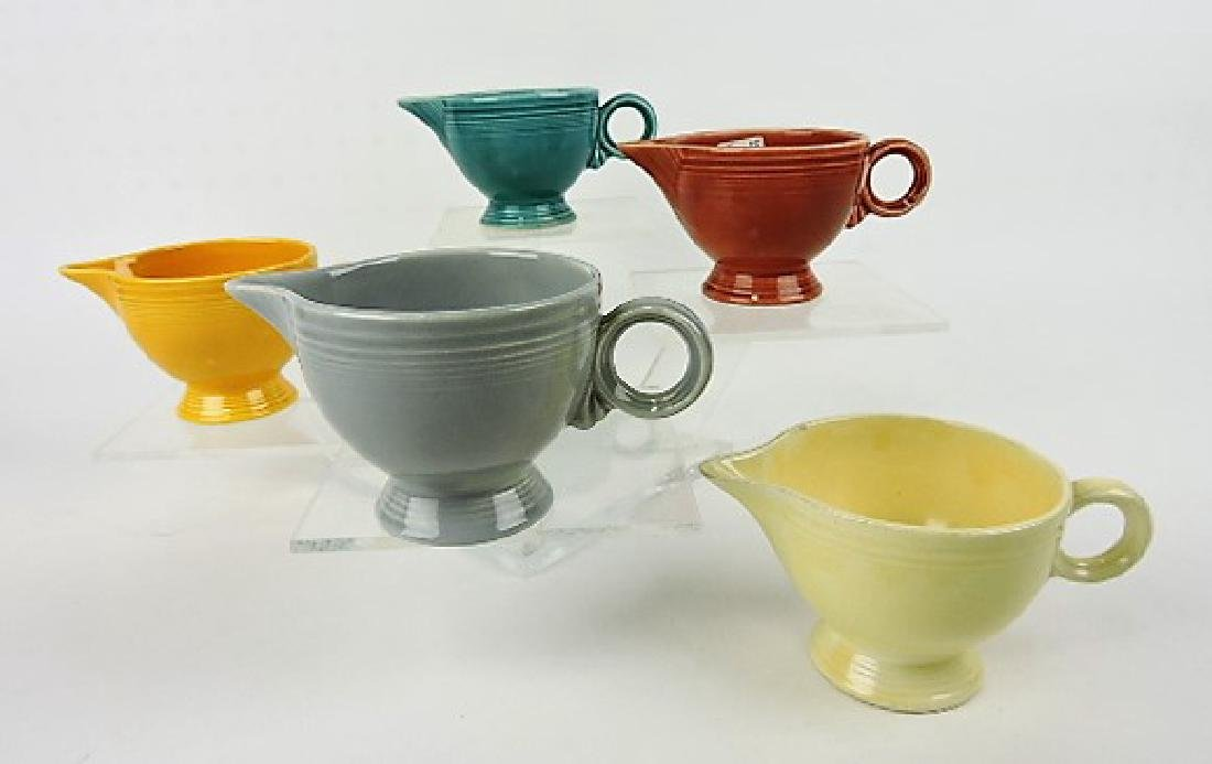 Fiesta creamer group, lot of 5 mixed colors