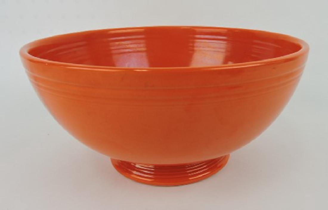 Fiesta footed salad bowl, red