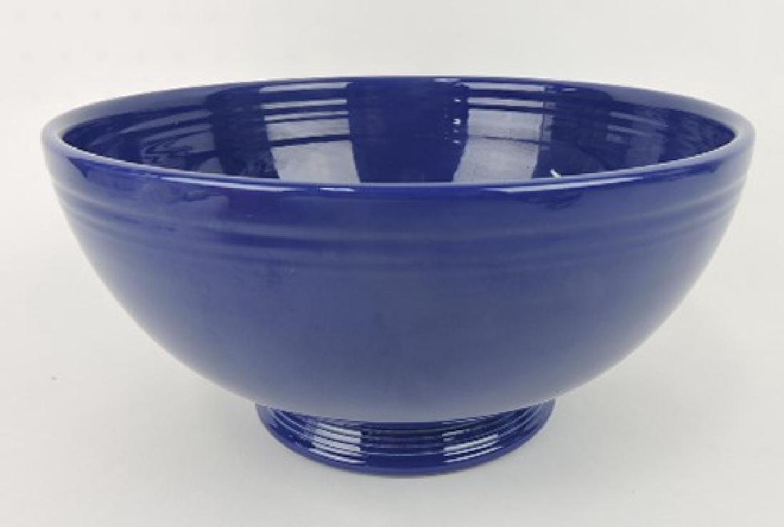 Fiesta footed salad bowl, cobalt, minor