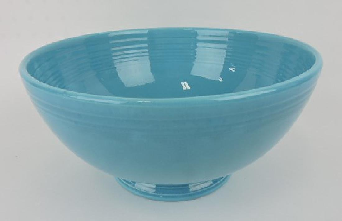 Fiesta footed salad bowl, turquoise