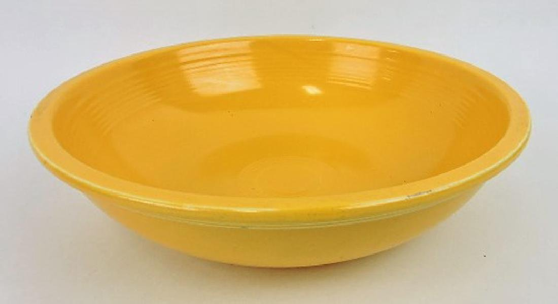 "Fiesta 11 3/4"" fruit bowl, yellow, nick"