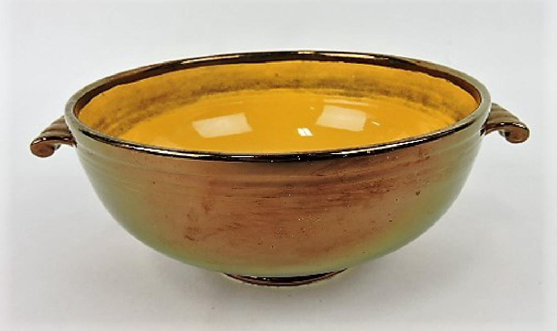 Fiesta casserole base, yellow with copper
