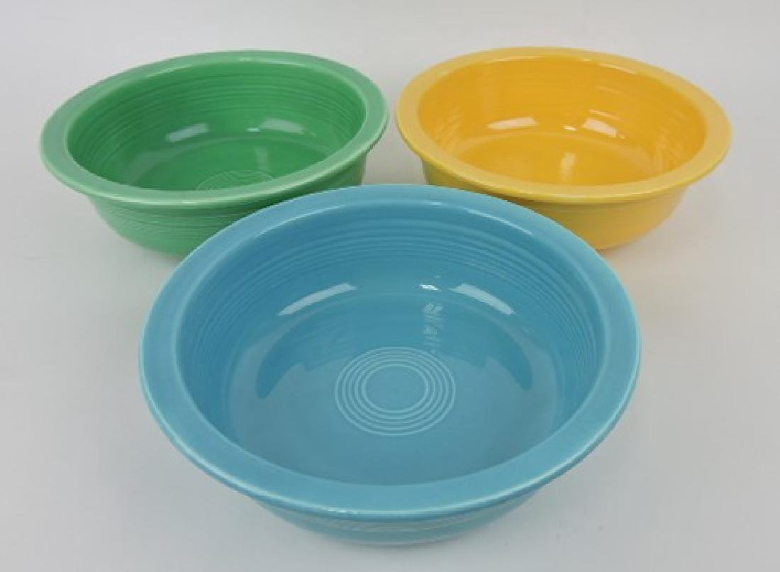 """Fiesta 9 1/2"""" nappy bowl group: turquoise,"""