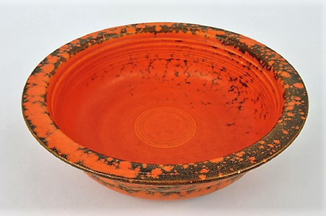 "Fiesta 8 1/2"" nappy bowl, rare burnt"