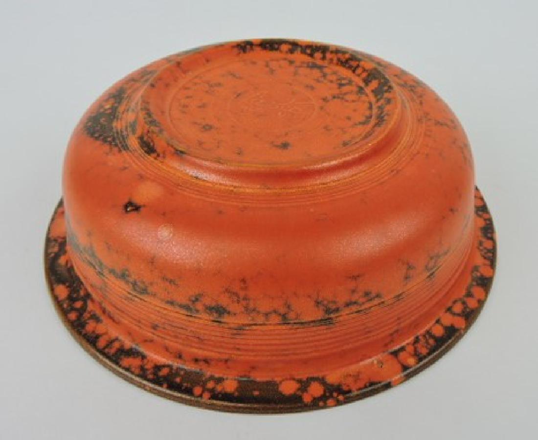 "Fiesta 8 1/2"" nappy bowl, rare burnt - 2"
